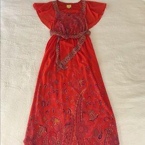 Maeve Brushed Paisley Maxi Dress 8